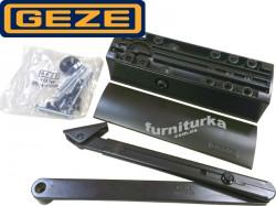 Доводчик GEZE TS 2000 VBC с локтевой тягой, с двойной регулировкой и дожимом (коричневый)