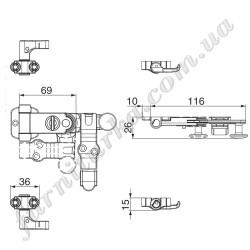 Запорный механизм к штанге с крюками, комплект без ответок