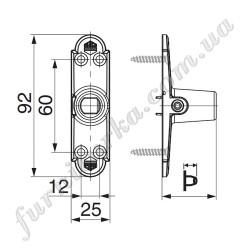 Консоль несущего стержня (р-р 0)  BLR L85 ширина=25 мм,  высота=20мм