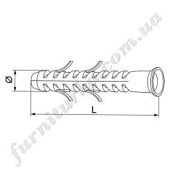 Дюбель для несущей консоли в стену D16 100 мм