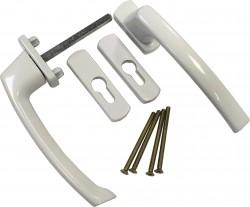 Ручка двухсторонняя  для раздвижной системы Масо (белая)